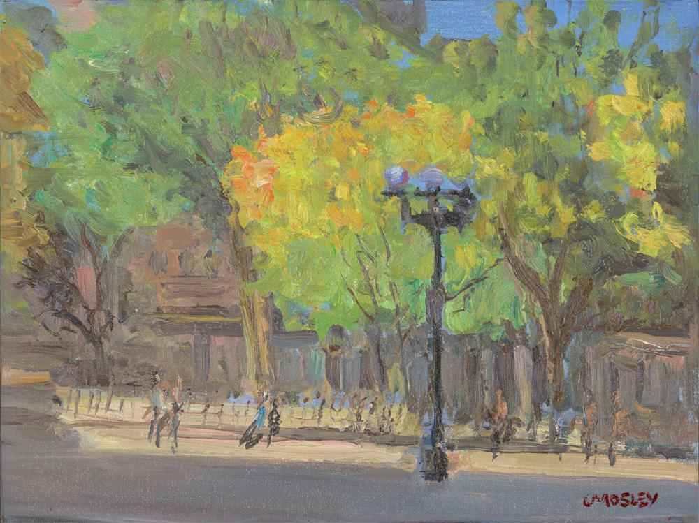 """Autumn Washington Square, 2015, 9 x 12"""", Oil on Linen on Panel"""