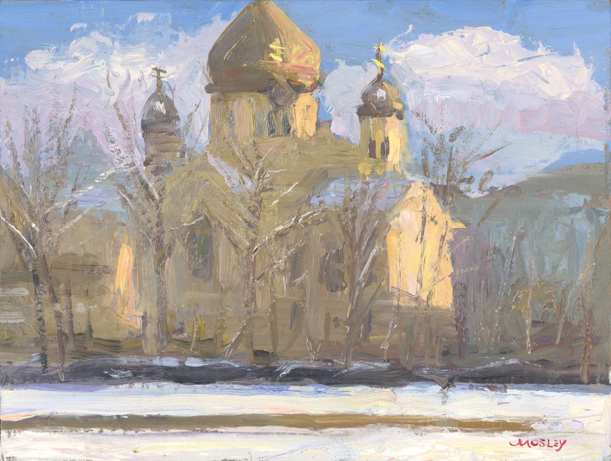 Greek Orthodox Church in the Snow, February, 2017