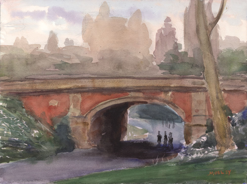 "Drip Rock Arch in Spring, 2015, 9 x 12"", Watercolor"