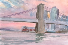 Brooklyn Bridge Sunset, July 2013