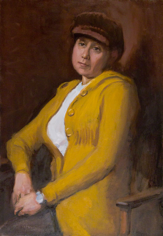 Maria, Brown Hat