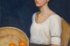 Katie with Oranges