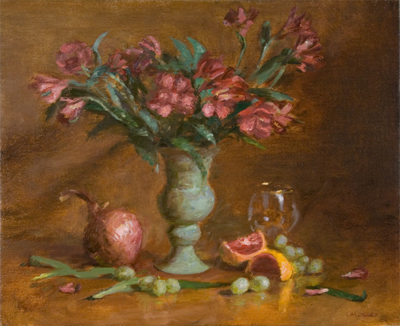 pink_lilies_oxidized_vase
