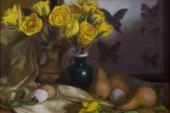 yellow_roses_butterflies