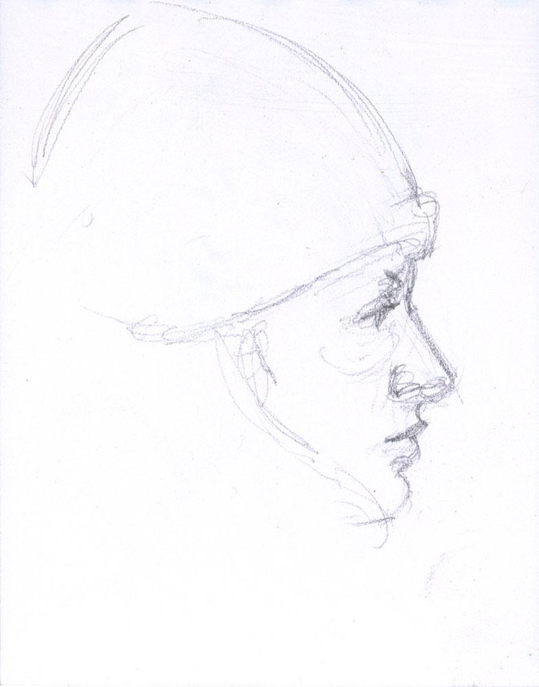"""Blond Profile, 4.75 x 3.5"""", Graphite"""