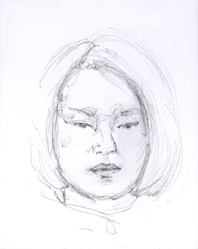"Japanese Beauty, 4.75 x 3.5"", Graphite"