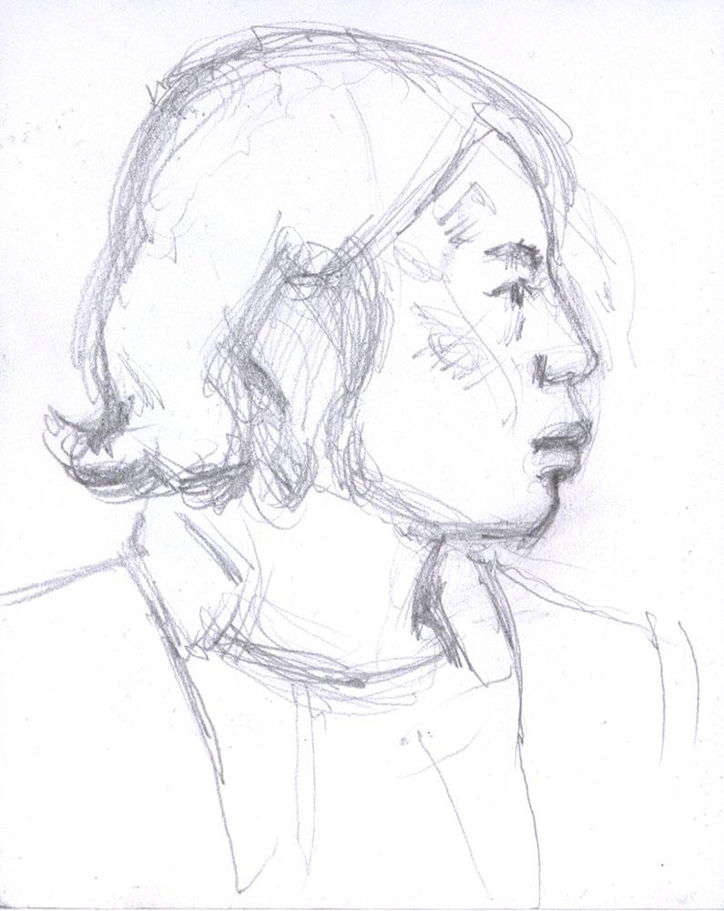 Japanese Girl, Subway Sketch
