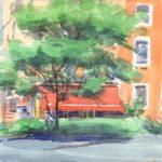 bus stop cafe 150x150 - Watercolor Landscapes