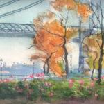 east river park fall 150x150 - Watercolor Landscapes
