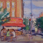 girls playing cards hester playground 150x150 - Watercolor Landscapes