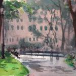 madison sq pk 6 2 14 150x150 - Watercolor Landscapes