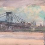 williamsburg bridger sunset 5 29 14 150x150 - Watercolor Landscapes