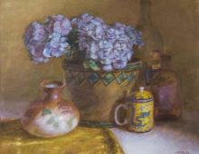 """Blue Hydrangeas, 18x22"""", Oil on linen"""