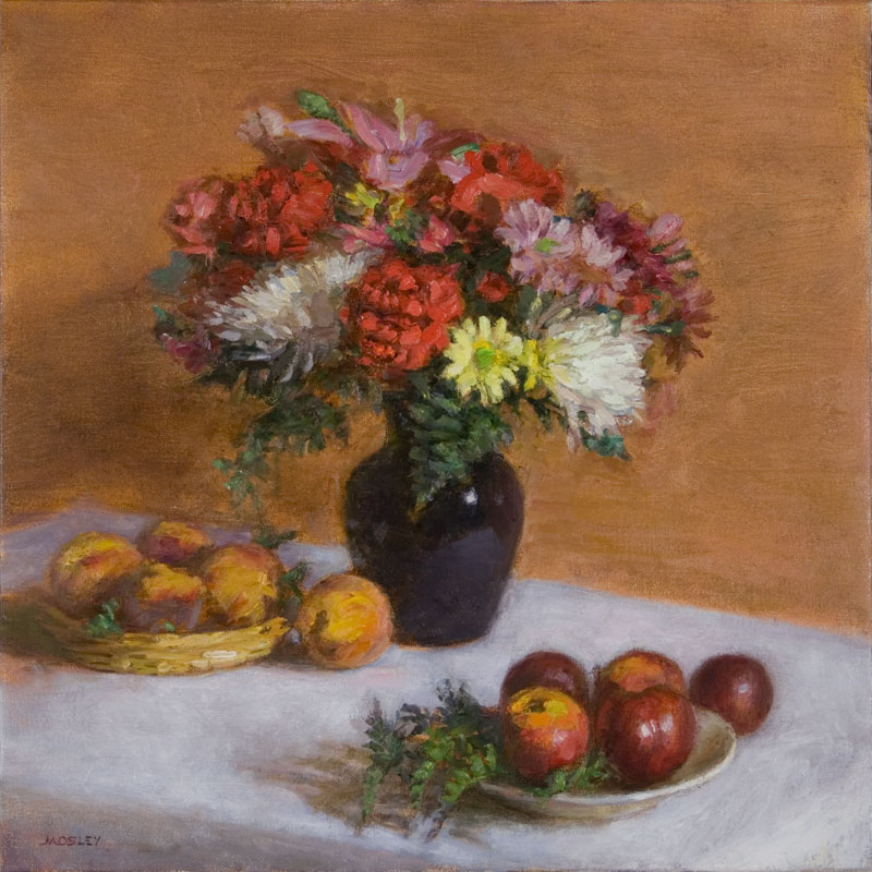 Bouquet with Peaches, Apricots and Plums