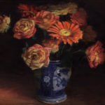 Gerberas and Roses in a Ginger Jar