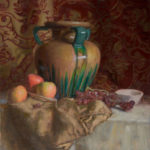 Large Vase with Apples and Grapes