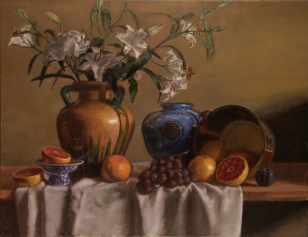 Lilies and Fruit
