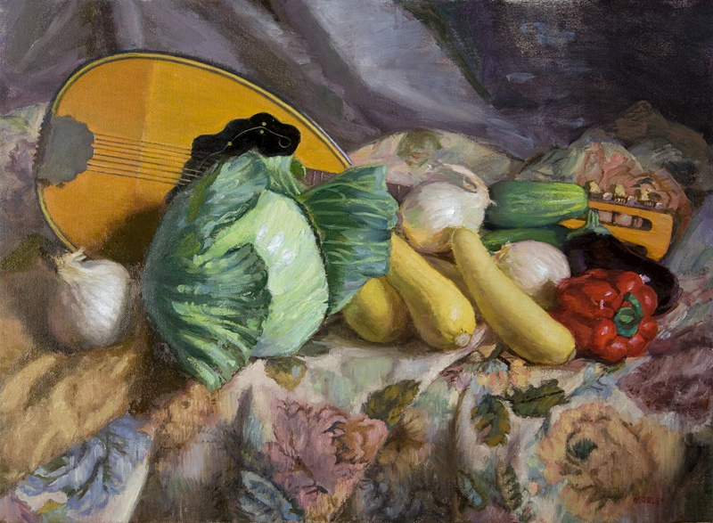 Mandolin with Vegetables