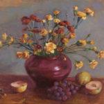 Maroon Vase