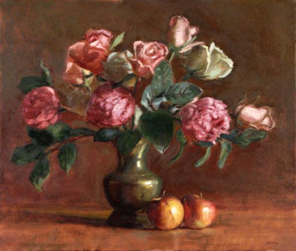 Pink Peonies & Yellow Roses