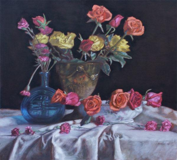 Roses, Black Background