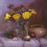 yellow roses w deep red 150x150 - Still Life