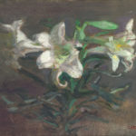 "Lilies, 14x18"" Oil on linen"