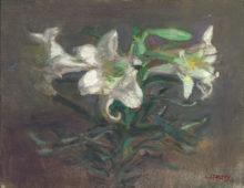"Lilies, 14x18"" Oil on linen"