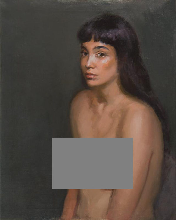"yesenia censored 600x750 - Yesenia, 30x24"", Oil on linen, framed"