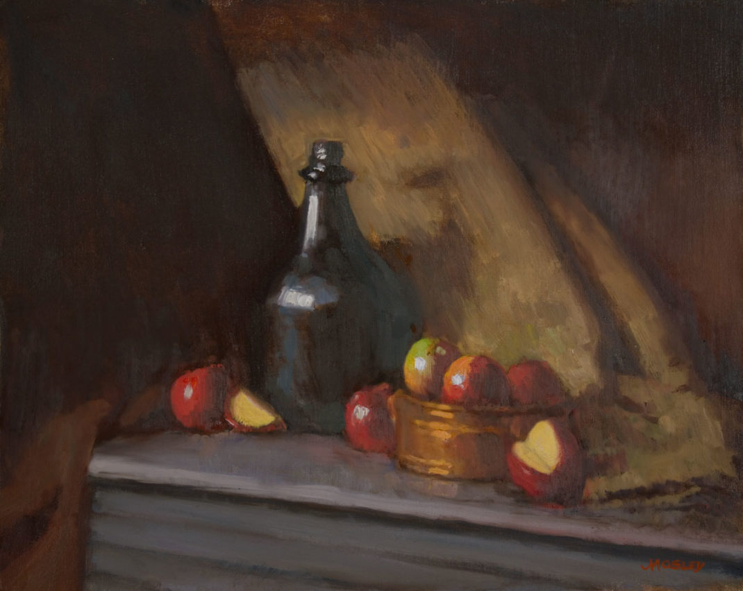 Glass Bottle with Apples