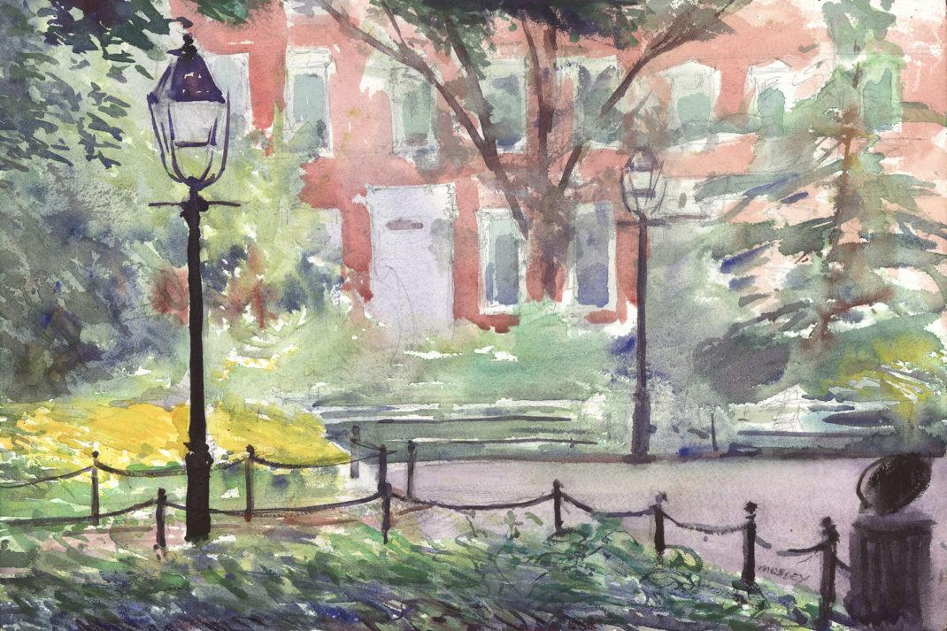 Washington Square Park in Spring
