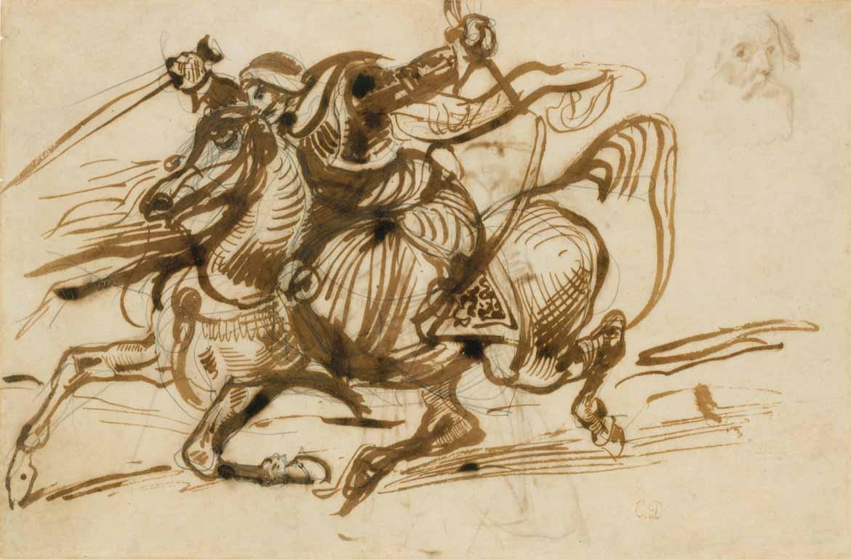 The Giaour on Horseback Eugène Delacroix exhibition at the Metropolitan Museum of Art